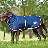 Weatherbeeta Parka 1200D Deluxe Dog Coat - Navy/Red/White - Size: 40Cm
