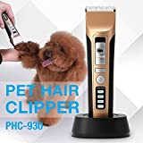 CamKing Pet Grooming Clippers, Electric Rechargeable 9/12 comb Cordless Clippers Kit for Pets Dog Cat