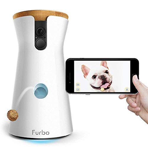 Furbo Dog Camera: Full HD Wifi Pet Camera with 2-Way-Audio, Treat Tossing, Night Vision and Barking Alerts, Designed for Dogs, Works with Amazon Alexa (As Seen On Paul O'Grady - For the Love of Dogs)