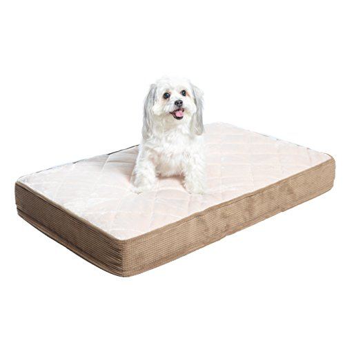Milliard Orthopedic Dog Bed, Quilted Mattress/Pet Bed, Egg Crate Foam with Plush Pillow Top Washable Cover - Fits Standard Crate - (Small 89 x 55 x 10 cm)