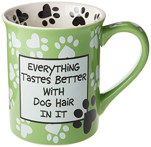 Our Name Is Mud 4026113 Dog Hair Mug Light Green Mug