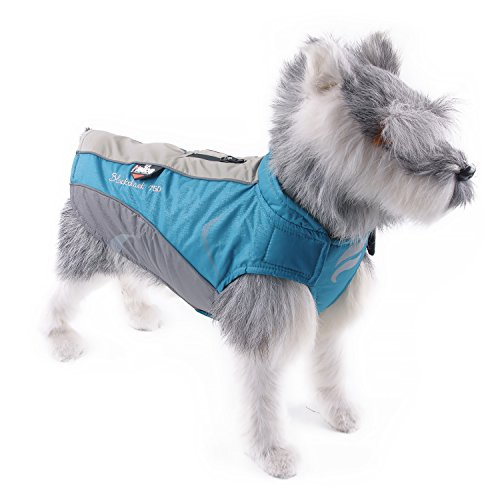 Helios Dog Outdoor Waterproof Snowproof Windproof Fleece Dog Winter Jacket, Dog Raincoats, Dog Fleece Sweater, M Black