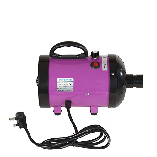 Panana Low Noise 2800W Pet Dog Cat Grooming Hair Dryer Hairdryer Blaster Blower (Purple)