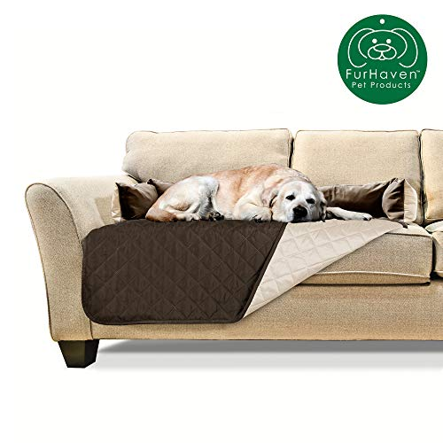 Furhaven Pet Sofa Buddy Pet Bed Furniture Cover, Large, Espresso/Clay
