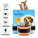 MASBRILL Anti Bark Collar,Advanced Anti Barking Dog Collar for Small Dogs with Beep & Vibration No Shock No Harm