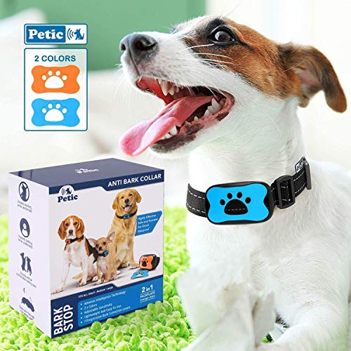 Advanced 2in1 Anti Bark Dog Collar | Stop Dogs Excessive Barking Device! SAFE HARMLESS & HUMANE Anti-Bark Training for Small Medium Large Size Breeds