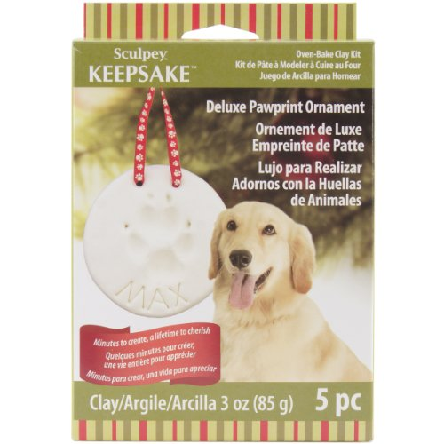 Polyform Various Sculpey Keepsake Kit Pawprint Ornament